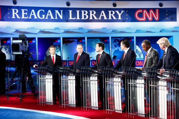 SIMI VALLEY, CA - SEPT 15: The CNN Republican Candidate Debate at the Reagan Presidential Library on September 16, 2015. Jake Tapper will be the moderator for the CNN Republican Presidential Candidate Debate from the Library on the 17th.