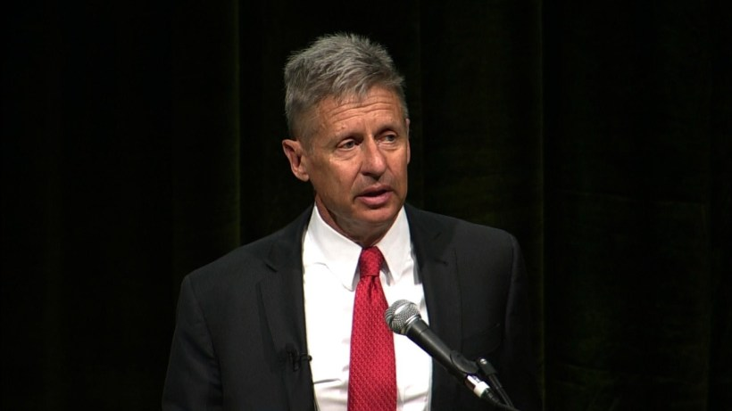 Libertarians selected former New Mexico Governor Gary Johnson as their nominee during the second round of voting on Sunday